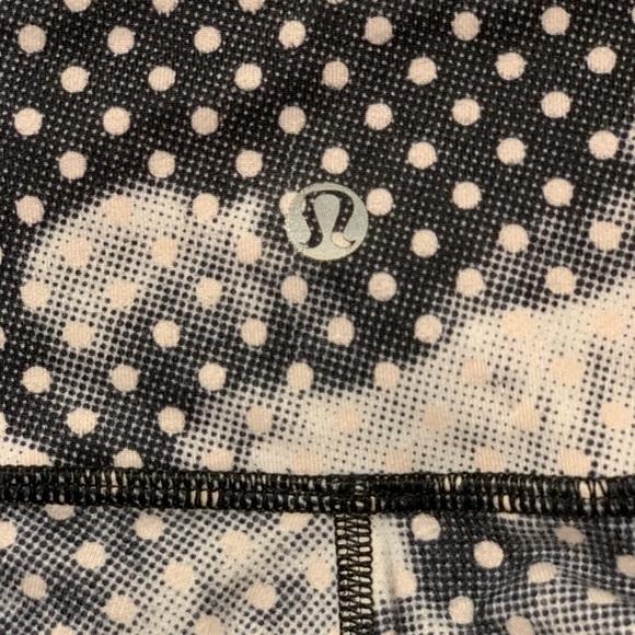 lululemon athletica Pants - Lululemon Black and White Spotted Workout Pants